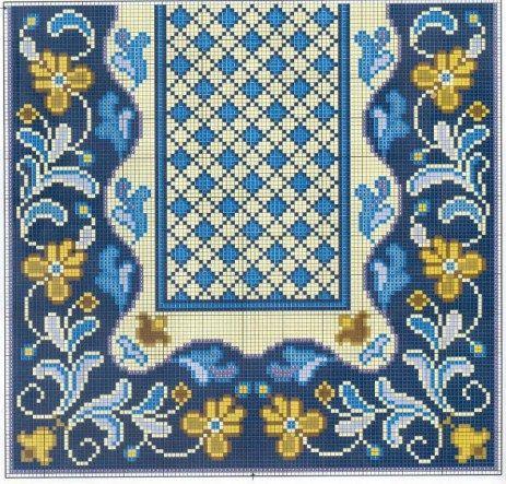 Схемы для вышивки коврика крестом 476