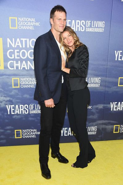 Professional Football player Tom Brady and wife, model Gisele Bundchen, attend National Geographic's 'Years of Living Dangerously.'