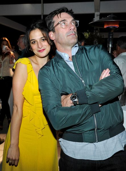 Actors Jenny Slate and Jon Hamm attend AT&T AUDIENCE Network's 'Off Camera With Sam Jones' 100th episode celebration at The Paley Center for Media.