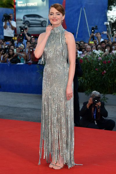 Actress Emma Stone attends the opening ceremony and premiere of 'La La Land' during the 73rd Venice Film Festival.