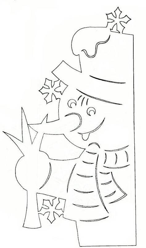 Новогодние шаблоны на окна из бумаги шаблоны