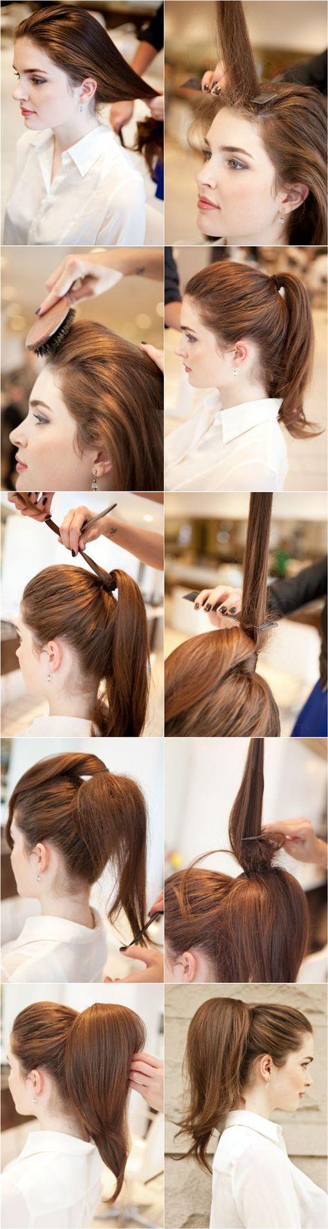 Как сделать хвост только из волос 175