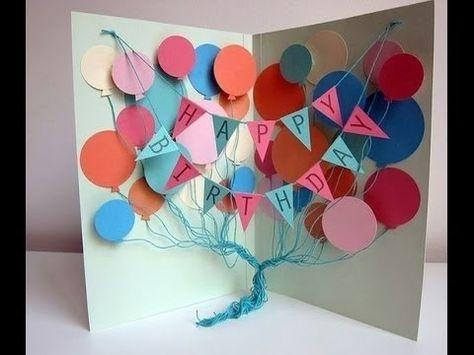 Сделать открытки ко дню рожденья своими руками