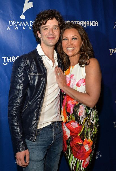 Drama Desk Awards host Michael Urie and nomination announcer actress Vanessa Williams attend the 61st Annual Drama Desk Awards nominations announcement at 54 Below on April 28, 2016 in New York City.
