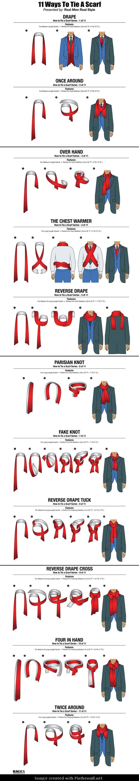 How to tie a scarf men fashion 85