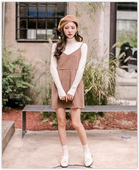 Mix Them With Berets For A Vintage Look - How To Wear the Pinafore Trend Without Looking Like A Kid - Photos