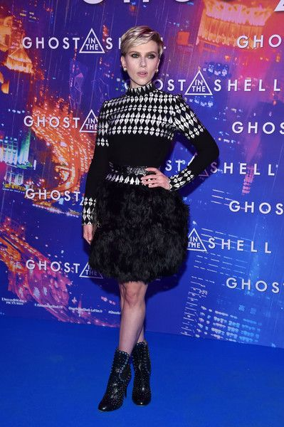 Scarlett Johansson attends the Paris Premiere of Paramount Pictures release 'Ghost in the Shell.'
