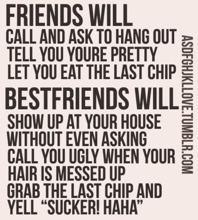 This is friendship!