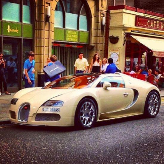 Cream Bugatti Veyron anyone? #Class