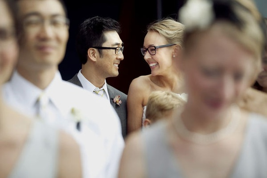 Yay! Another bride and groom in glasses!