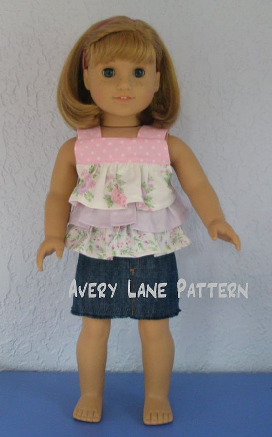 Doll clothes - patterns from Avery