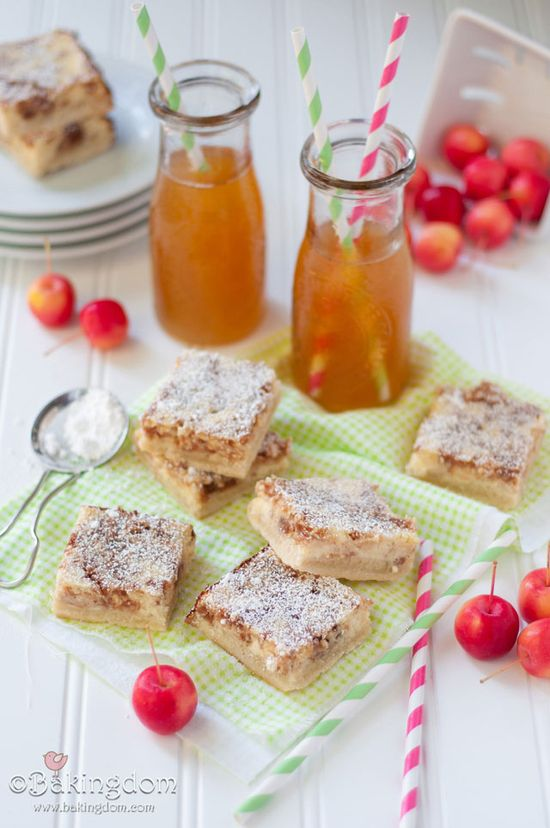 Apple Cider Cheesecake Shortbread Bars