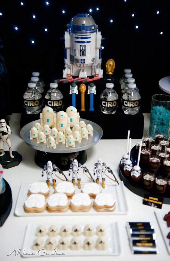 Star Wars Themed Birthday Party via www.KarasPartyIde...