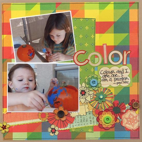 I am a Painter - Scrapbook.com - #scrapbooking #layouts