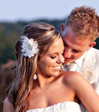 Bridal Hair Flower by One World Designs Bridal Jewelry
