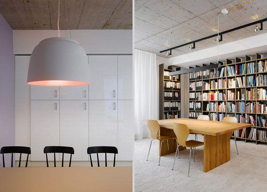 bookshelves modern interior office design