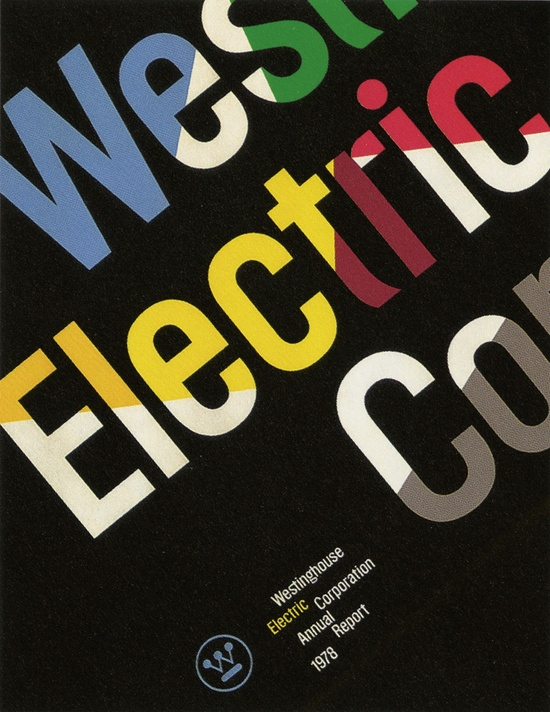 Westinghouse Annual Report designed by Paul Rand.