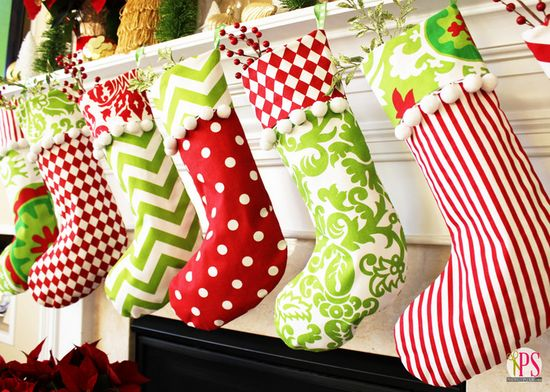 fun, bright Christmas stockings...and a tutorial!