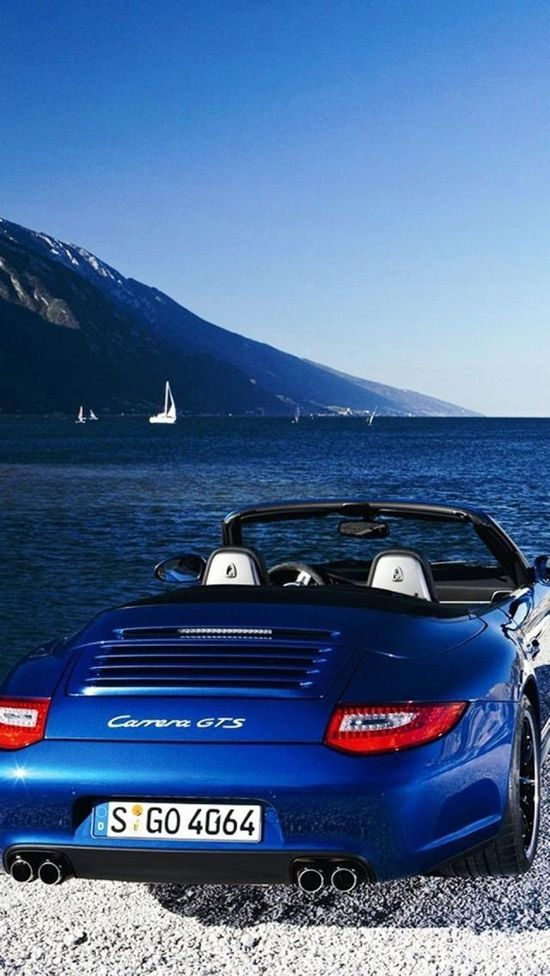 #Porsche 911 Carrera GTS. And I like oceans, too. This is picture perfect, but I realize it's not the real world. We have to feed the starving babies,