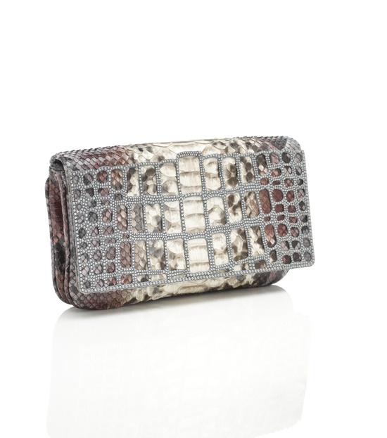 Liloe Python and Crystal Cage Handbag by judithleiber: Awesome! #Handbag #judithleiber
