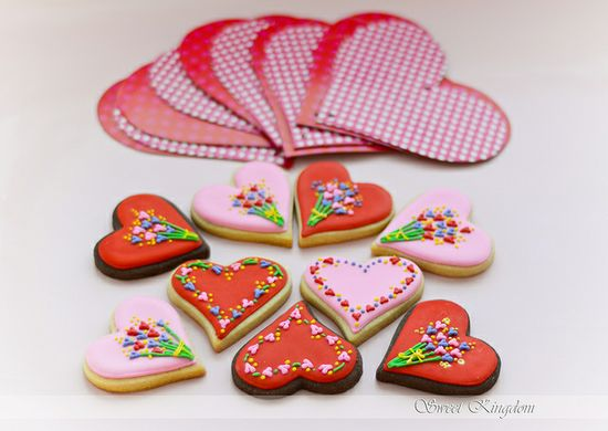 Valentine's cookies  by Milena ?, via Flickr