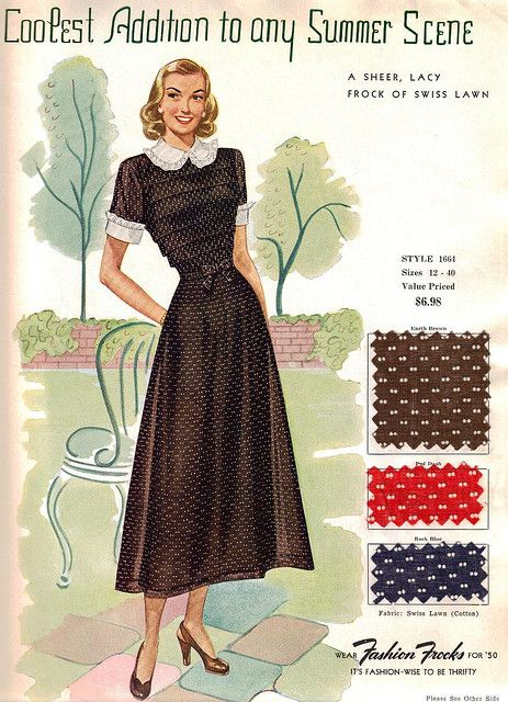 "Fashion Frocks ""Coolest Addition to any Summer Scene"" 1950"