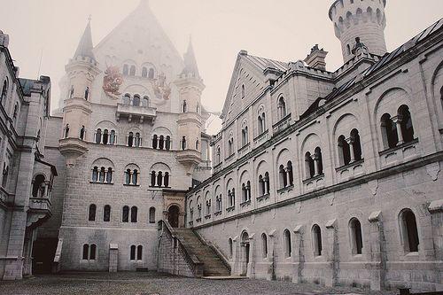 Neuschwanstein castle - inspiration for Disneyland's sleeping beauty castle