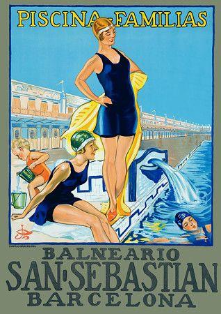 Barcelona Spain Vintage Travel Posters Prints
