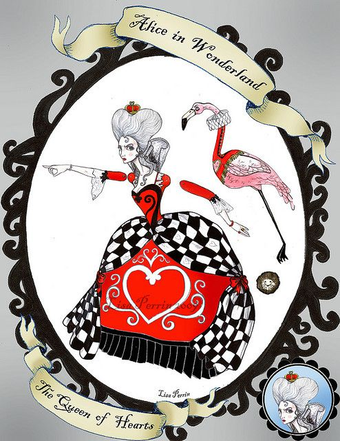 Alice in Wonderland Paper Dolls - The Queen of Hearts