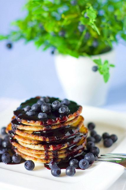 Blueberry pancakes. pancake theme...