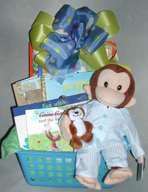 Pajama george bedtime stories gift basket