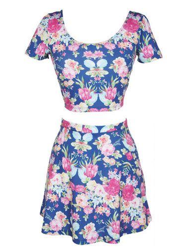 Floral Banded Skirt Set, $24.50 for skirt, $14.50 for top