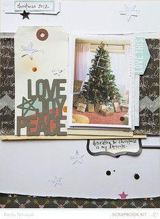 #scrapbooking #scrapbook #layout #christmas
