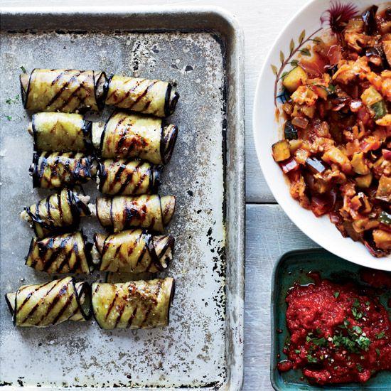 Eggplant Involtini with Grilled Ratatouille // More Tasty Vegan Recipes: www.foodandwine.c... #foodandwine