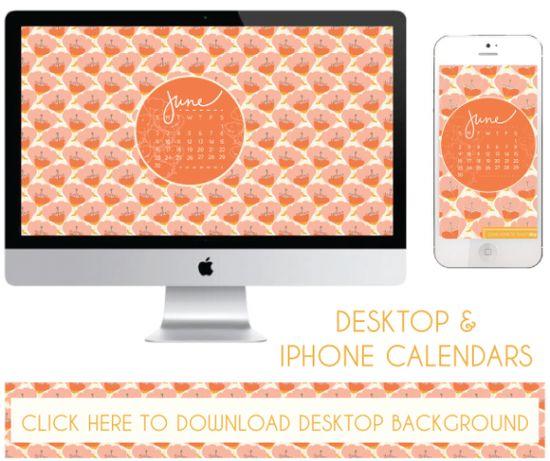 june desktop & iphone calendars