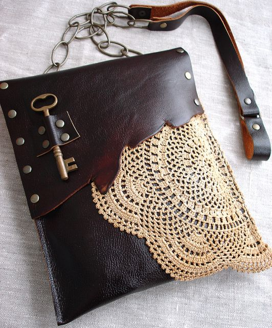 #leather #lace #vintage