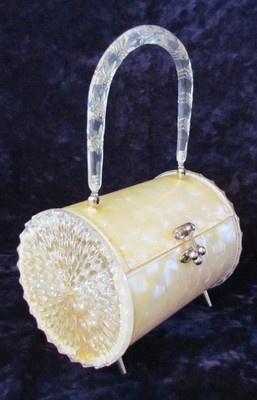 round Lucite 50's purse