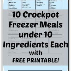 10 Crockpot Freezer Meals under 10 Ingredients Each Trying Savory Chicken