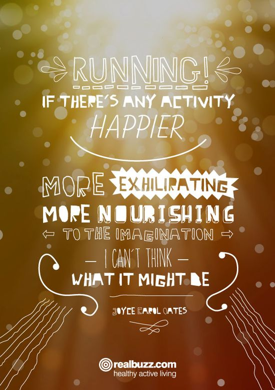 Motivational quote - Running, exercise daily!
