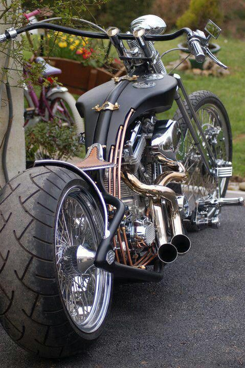 Bad to the bone! The copper tubing would look great on a Bobber