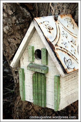 green birdhouse