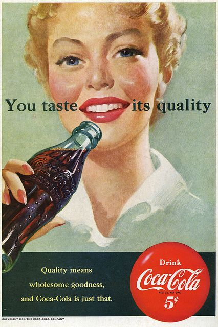 Enjoy the wholesome goodness of Coca-Cola! #vintage #1950s #ad #food #drinks #soda