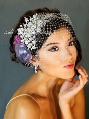 Crystal Birdcage Veil - Australian Wedding Ideas