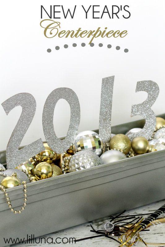 New Years Centerpiece on { lilluna.com } #newyears