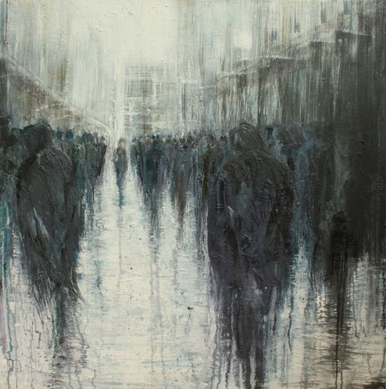 "Saatchi Online Artist: lesley oldaker; Oil, 2012, Painting ""Passing Through"""