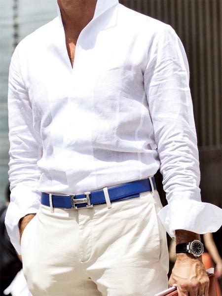 white and khaki, Hermes belt