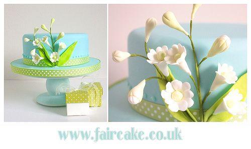 Spring Wedding Cake by Fair Cake, via Flickr