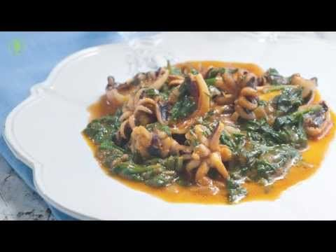 Fantastic Recipe for Cuttlefish with Spinach, Cooking Recipes Blog