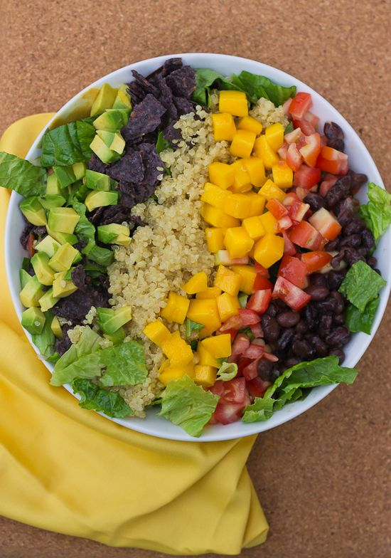 [Athlete Eats] Quinoa Taco Salad by LoveandZest, healthyapertures #Salad #Quinoa #Healthy