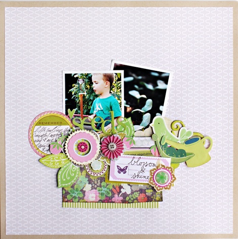 "love this layout! use it for my ""barbies"" childhood memories layout. #scrapbooking #layout"